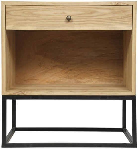 QS Garland Side Table, Elm and Metal