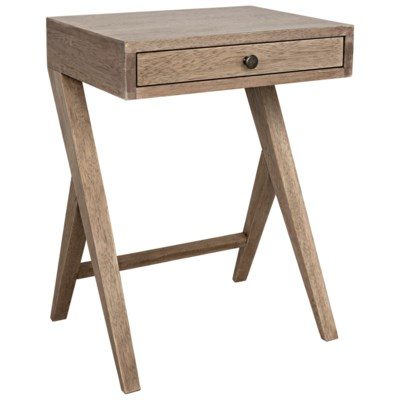 Peter Side Table, Washed Walnut