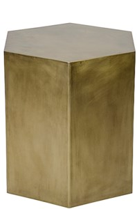 Aria Side Table, B, Antique Brass