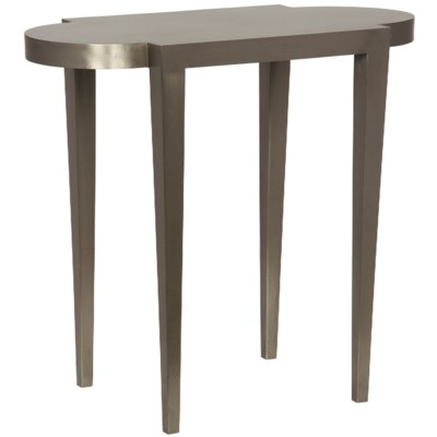 Trinity Side Table, Antique Silver