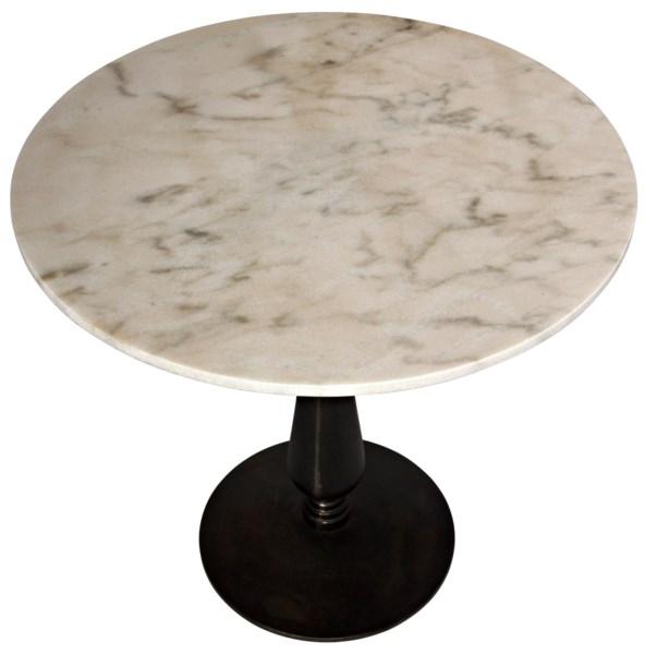 Cobus Side Table, Cast Iron and Quartz