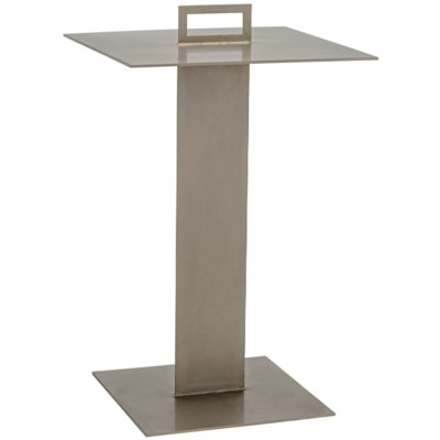 Gino Side Table, Antique Silver