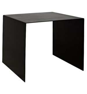 Yves Side Table, Large, Black Steel