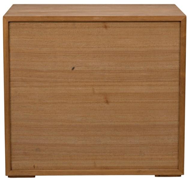 SL05 Side Table, Gold Teak