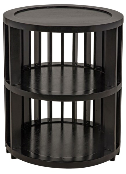 Morison Side Table, Hand Rubbed Black
