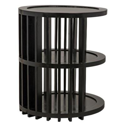 Morison Side Table, Hand Rubbed Black