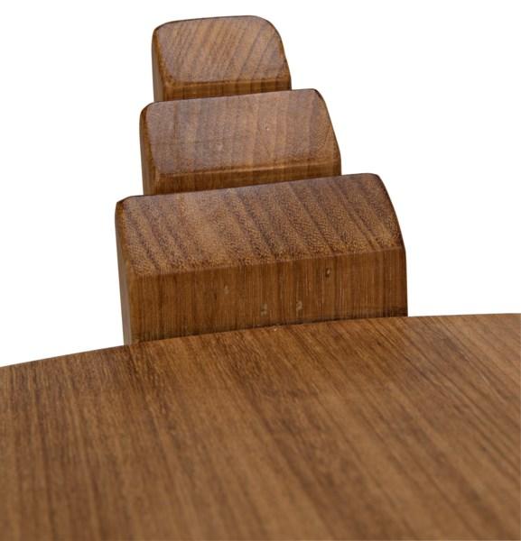 Gerutti Side Table, Gold Teak