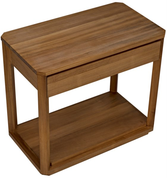 SL11 Side Table, Gold Teak