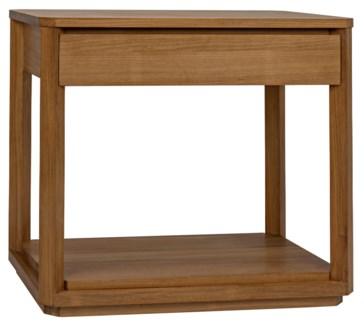 SL11 Side Table, Gold Teak