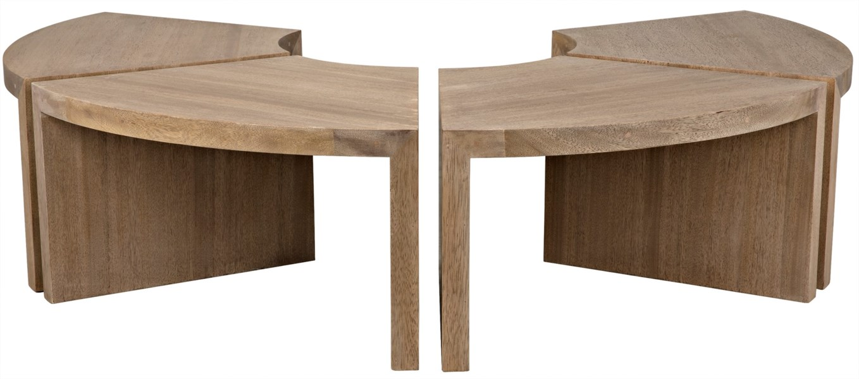 Segment Coffee Table, One Piece, Washed Walnut
