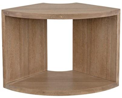 Segment Side Table, One Piece, Washed Walnut