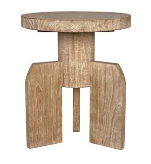 Shizue Side Table, Distressed Mindi