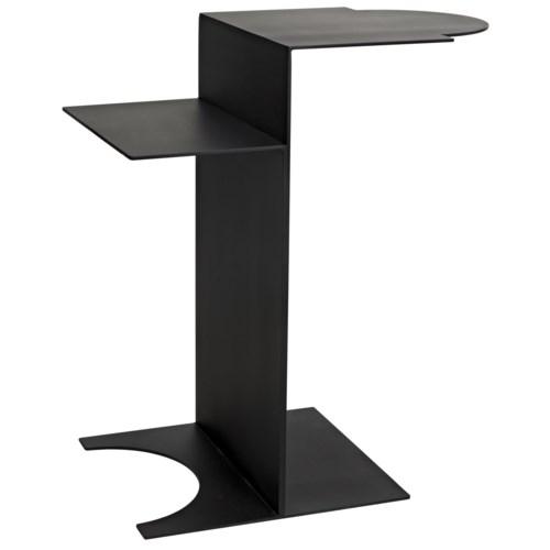 Pin Side Table, Black Metal