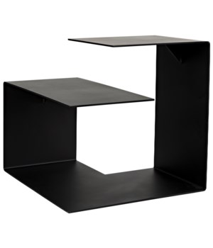 Solo Side Table, Black Metal