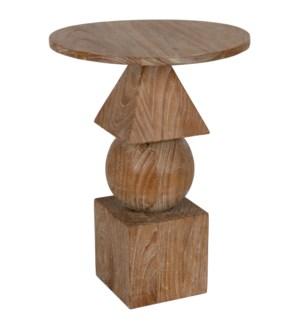 Adamo Side Table, Distressed Mindi