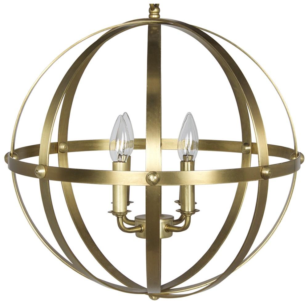 353 Pendant, Small, Antique Brass