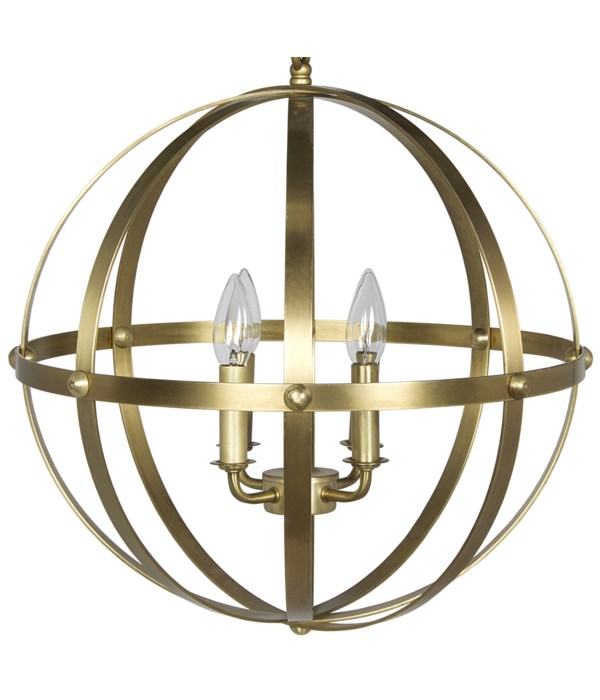 353 Pendant Small, Metal with Brass Finish
