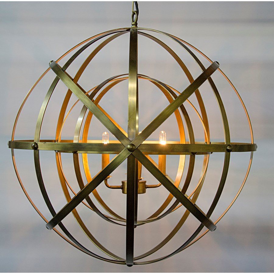 Alchemy Chandelier, Antique Brass