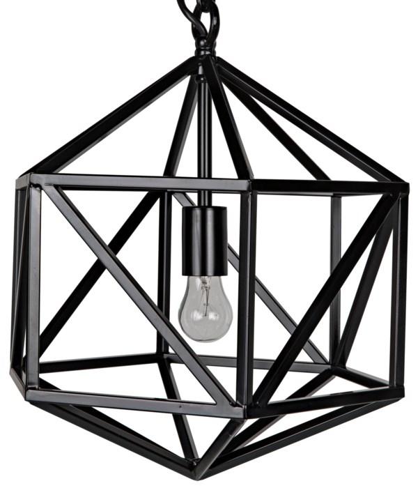 Diamond Pendant, C, Black Steel