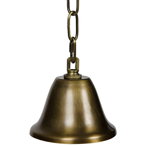 Diamond Pendant, B, Antique Brass