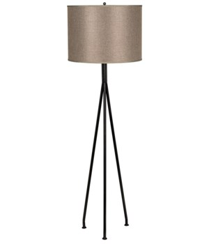 Tripod Floor Lamp, Black Metal