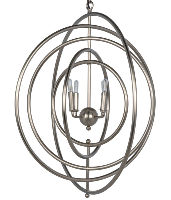 Brooks Pendant, Metal with Antique Silver Finish