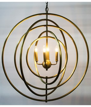 Brooks Pendant, Antique Brass