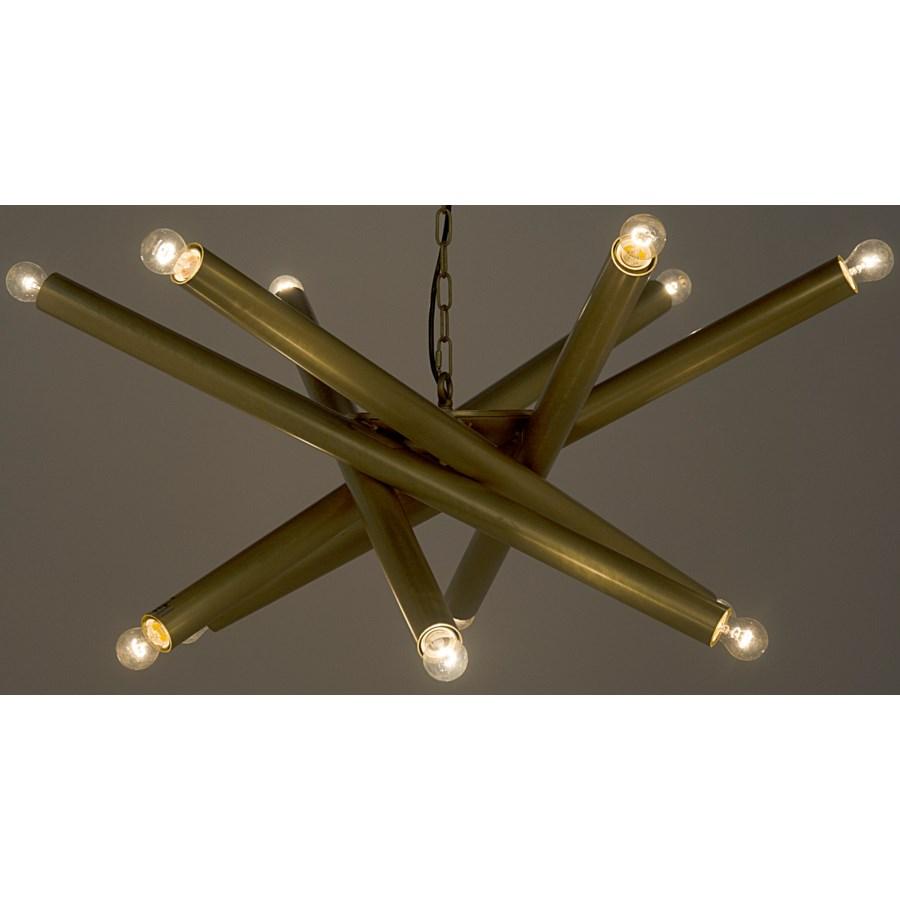 Lex Chandelier, Antique Brass