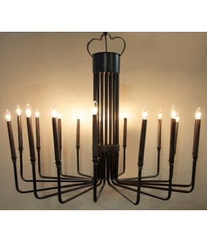 Kooper Chandelier, Black Metal