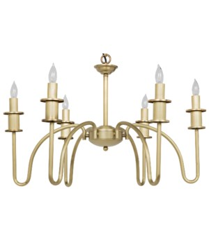 Exton Chandelier, Small, Antique Brass