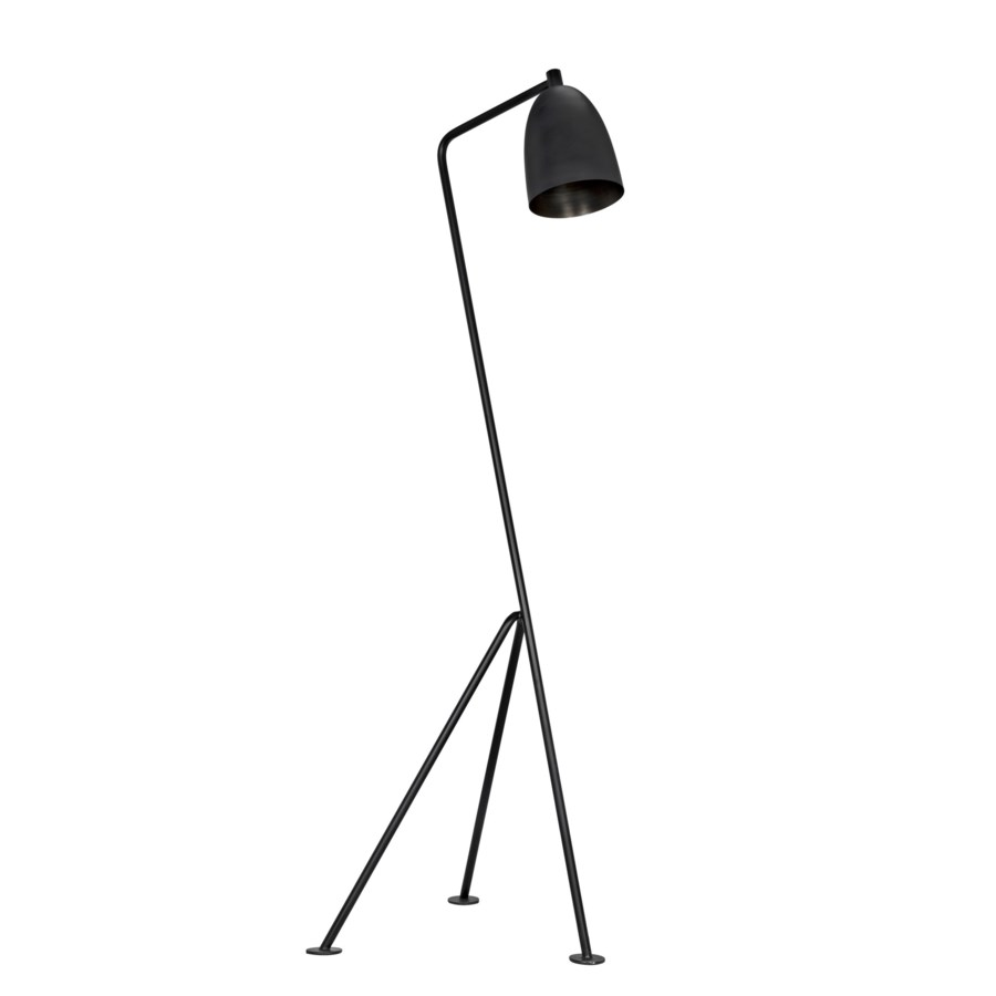 Asti Floor Lamp, Black Metal