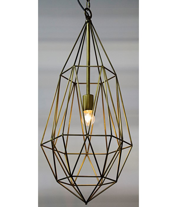 Point Pendant, Steel with Brass Finish