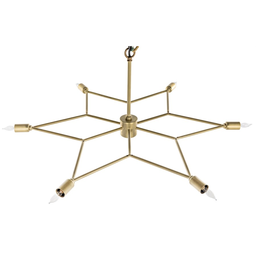 Star Pendant, Antique Brass
