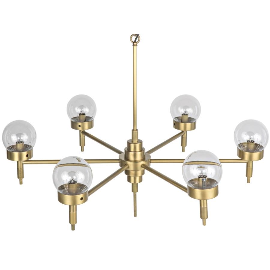 Leslie Chandelier, Antique Brass