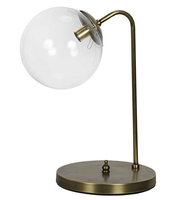 Knick Table Lamp, Metal with Brass Finish
