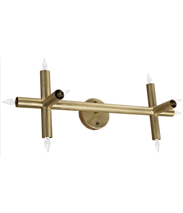 Salome Sconce, Metal with Brass Finish