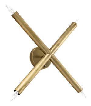 Cross Sconce, Antique Brass