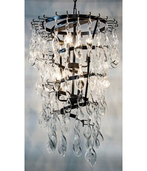 Glass Spiral Chandelier