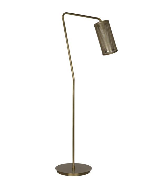 Pisa Floor Lamp, Metal with Brass Finish