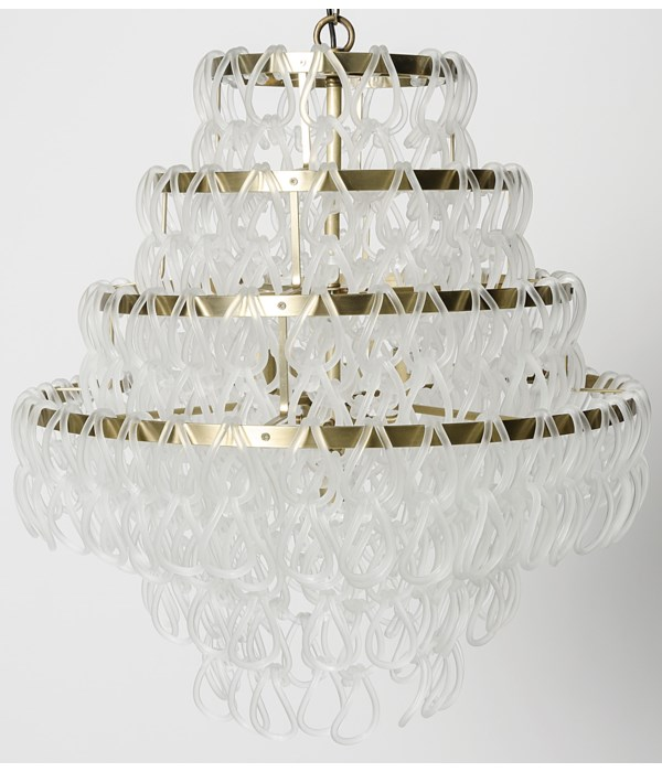 Dolce Vita Lamp, Large, Metal with Brass Finish and Glass