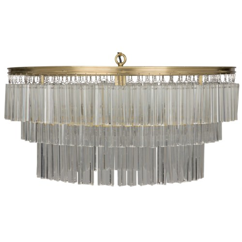 Oval Deco Chandelier