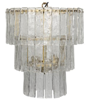 Bruna Chandelier, Small, Antique Brass