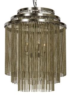 Veil Chandelier, Antique Brass