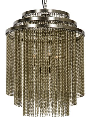 Veil Chandelier, Antique Brass