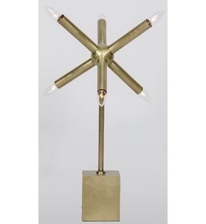 Piedmont Table Lamp, Antique Brass