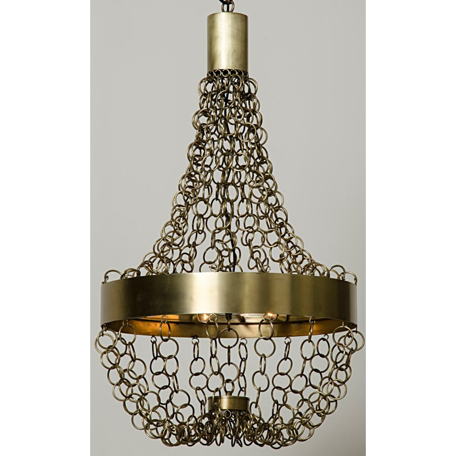 Perestroika Chandelier, Antique Brass