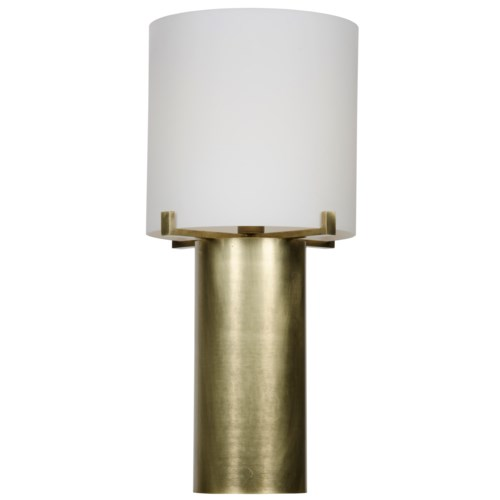 Dede Table Lamp, Antique Brass, Metal and Glass