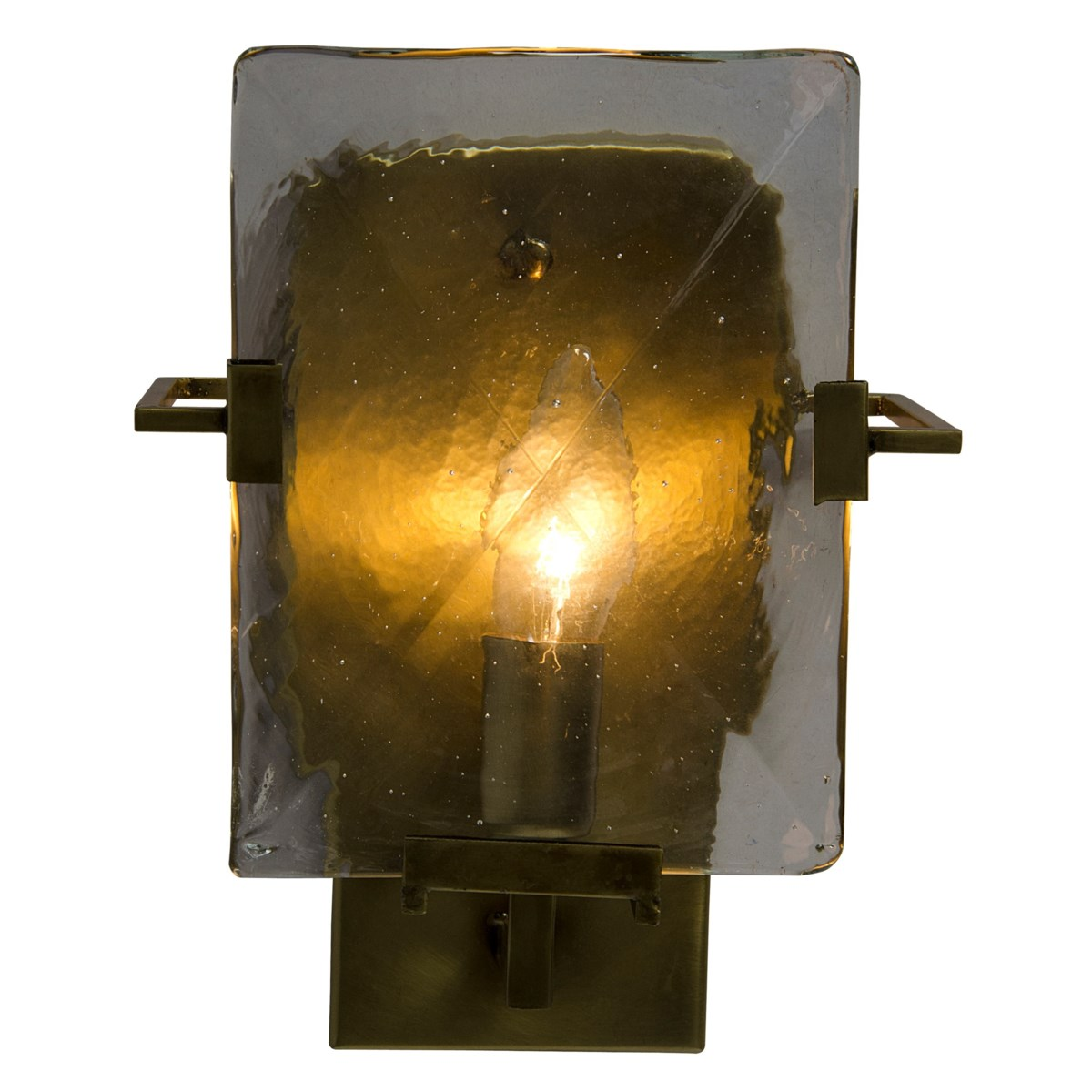 Krupp Sconce, Antique Brass and Glass