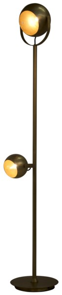 Bullet Floor Lamp, Antique Brass