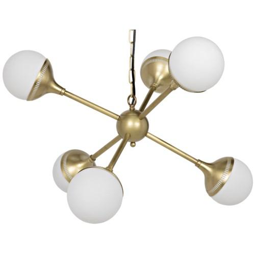 Zoe Sputnik Chandelier, Small, Antique Brass